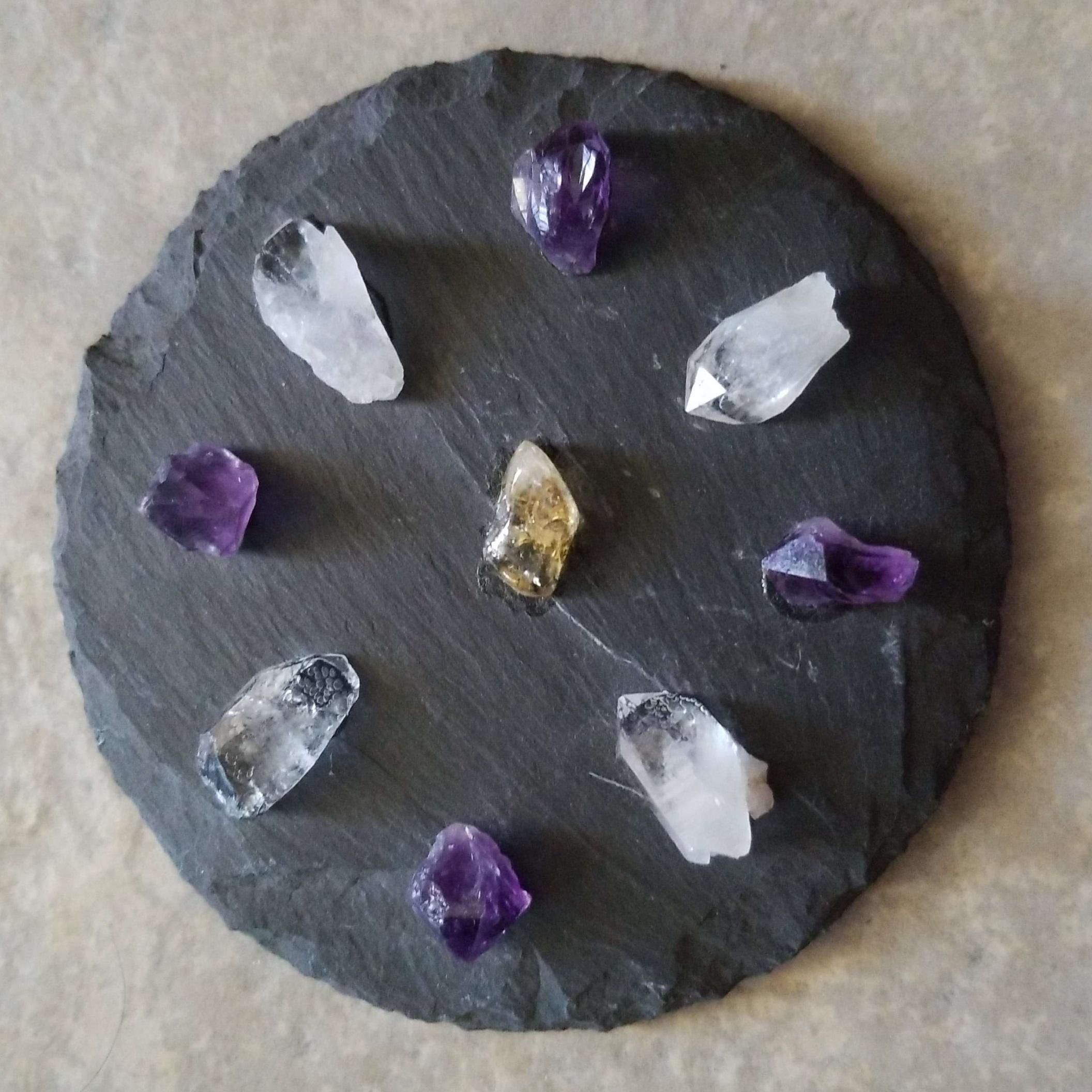 Crystal Grid-Slate